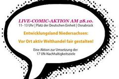Live-Comic-Aktion für fairen Handel