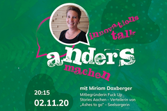 Andersmachen - der Innovationstalk am 2. November